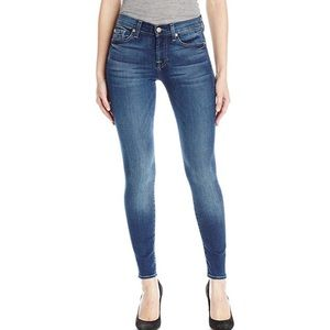 7 For All Mankind Skinny Blue Jeans Size 24